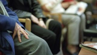 Patients waiting to see a doctor