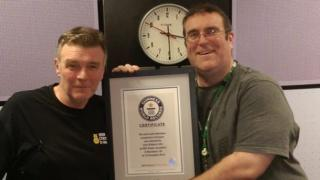 John Gillmore and Garry Scott with their World Record certificate