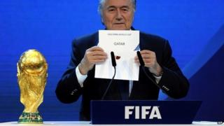 Fifa President Sepp Blatter announces that Qatar will be hosting the 2022 Soccer World Cup - 2 December 2010