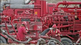 Halliburton oil workers