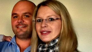 Caroline Bramwell and her fiancé Gerard Crossin