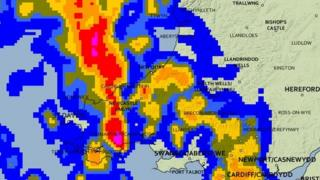 The Met Office UK weather map rainfall prediction for midnight on Friday 14 November