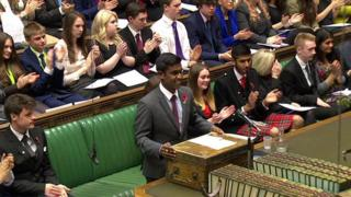 Delegates of the Youth Parliament during the Commons debate