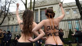 Femen protesters in Berlin