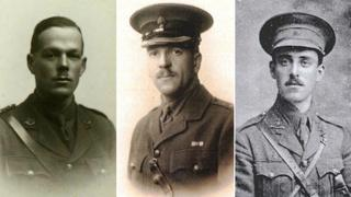 Private Robert Neve, Captain Thomas Pryce and Captain William Forshaw