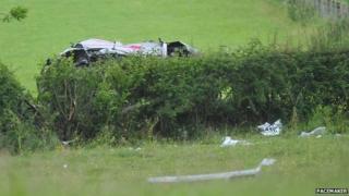 Subaru Impreza wreckage