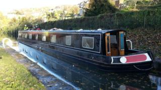 Canal boat re-floated