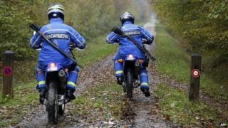 French gendarmes search for the mystery feline