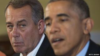 House Speaker John Boehner and President Barack Obama meet after the mid-term election.
