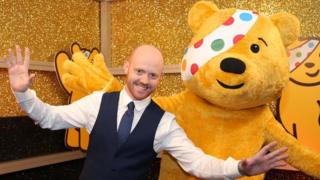Barra Best and Pudsey Bear