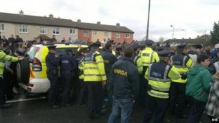 Police were called to the scene in Jobstown, Dublin