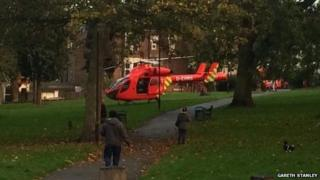 Air ambulance in Plumstead