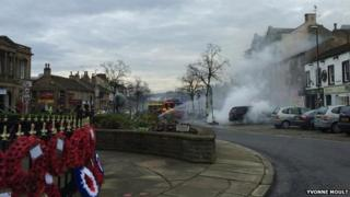 Car blaze in Skipton