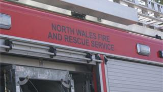 North Wales Fire and Rescue engine
