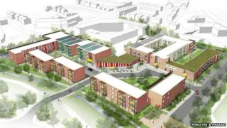 Design for Oak Park Health & Wellbeing Campus in Havant, Hampshire