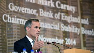Mark Carney, governor of the Bank of England, speaks in Singapore on Monday.