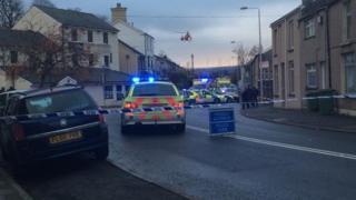 Crash scene in Aberdare
