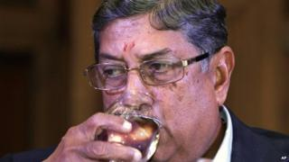 Mr Srinivasan is the head of the International Cricket Council