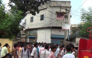 The house in Burdwan where the blast took place on 2 October 2014