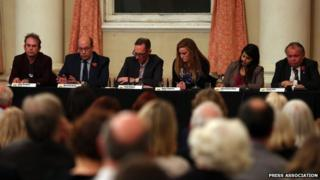 The candidates in Rochester and Strood during a debate