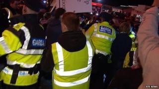 water protestors