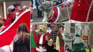 Santa Parade in Poole