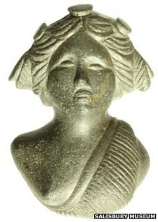 Roman bust of a Maenad