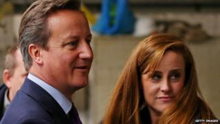 David Cameron and Kelly Tolhurst
