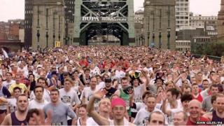 Runners take part in the GNR