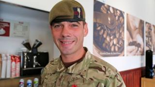 Colour Sgt James Geen from 1st Battalion the Welsh Guards
