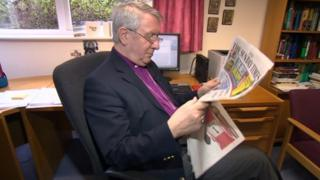 The Right Reverend Tim Stevens, the Bishop of Leicester
