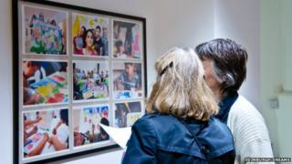 Women looking at art