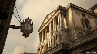 The Bank of England in the City of London