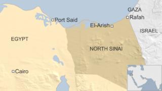 Map of North Sinai