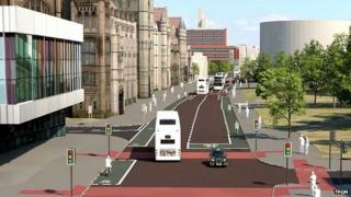 Oxford Road bus and cycle lanes
