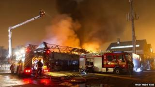 Fires tackle Bilston fire