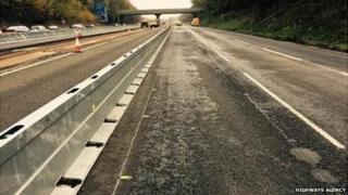 M1 road damage