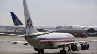 American airlines and United flights