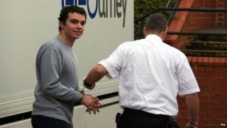 Liam Lyburd is led into court