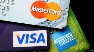 Credit cards close-up