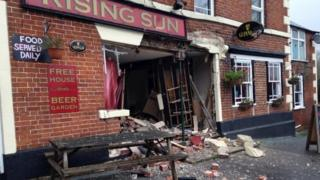 Rising Sun pub in North Bradley