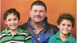 Ken Spooner with Devlan and Caelan