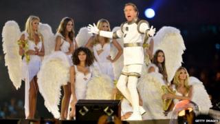 Eric Idle, at the 2012 Olympics closing ceremony