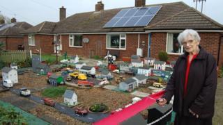 Wicken model village opened by Pat Bullman