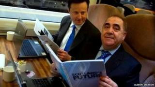 Lookalikes for David Cameron and Alex Salmond