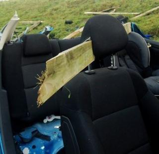 Lisburn crash aftermath