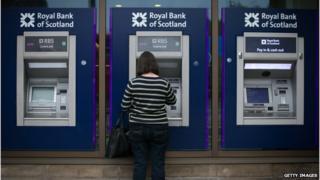 Customer at RBS ATMs
