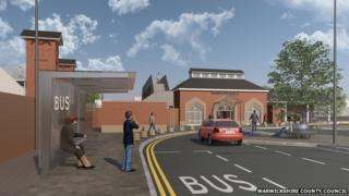 Artist's impression of Kenilworth station
