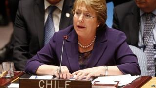 Michele Bachelet at the UN Security Council, 24 Sep 14