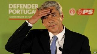 Former Portugal PM Jose Socrates during a campaign event in Lisbon - 5 June 2011